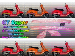 Vespa GTS Super Decal / Sticker Kit GT (aftermarket)